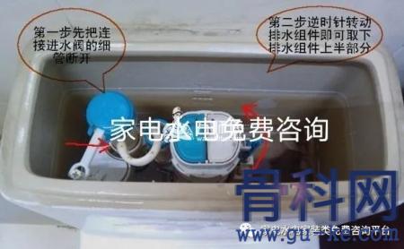 马桶水箱一直流水图解:抽水马桶水箱一直流水的检修方法